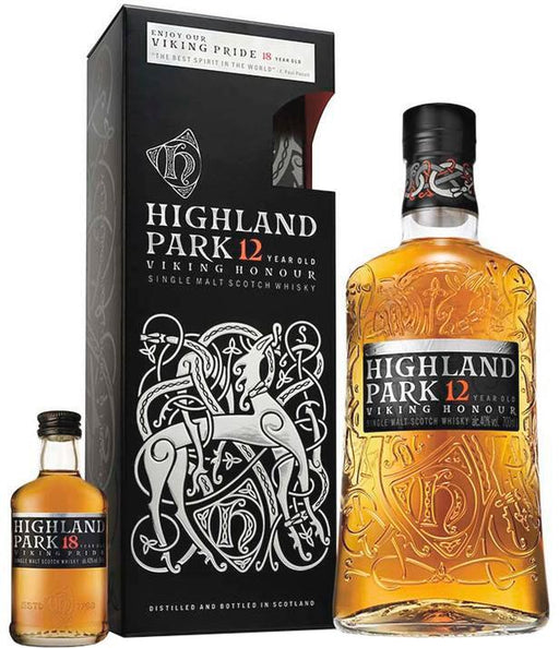 Highland Park Viking Honour 12 YO + Highland Park Viking Pride 18 YO
