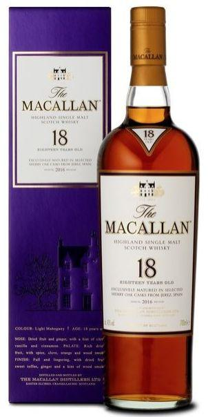 The Macallan Sherry Oak 18 YO Single Malt 43%