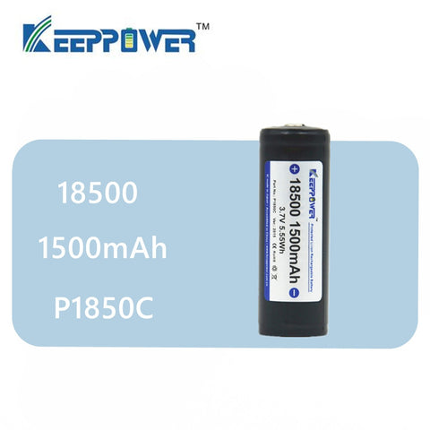 1 pcs Original KeepPower 18500 1500mAh protected 3.7V li-ion battery P1850C drop