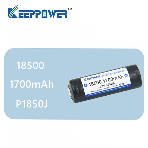 1 pcs Original KeepPower 18500 1700mAh protected 3.7V li-ion battery P1850J