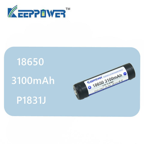 1 pcs Original KeepPower 3100mAh 18650 protected li-ion rechargeable battery 3.7V P1831J