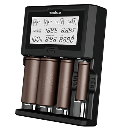 Miboxer C4-12 LCD Display 3A Intelligent Li-ion/IMR/Ni-MH Battery Charger