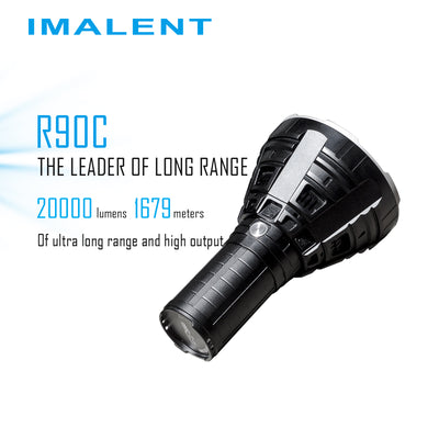 IMALENT R90C 9* CREE XHP35 HI LED Flashlight 20000 Lumens 1679 Meters  Flashlight