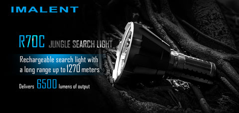 IMALENT R70C CREE XHP70.2 6500 Lumens 1270m Search Light LED Flashlight