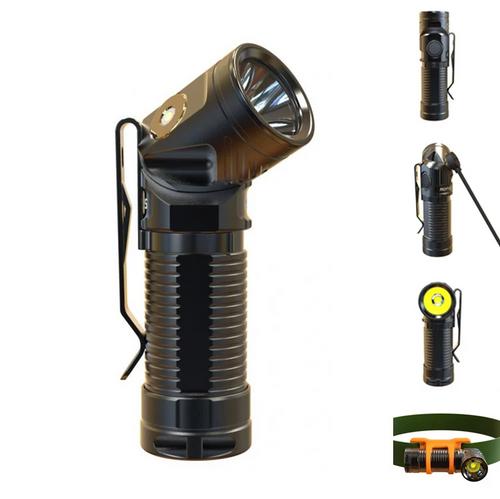Rofis R1 16340 900lm Adjustable-head Flashlight Headlamp