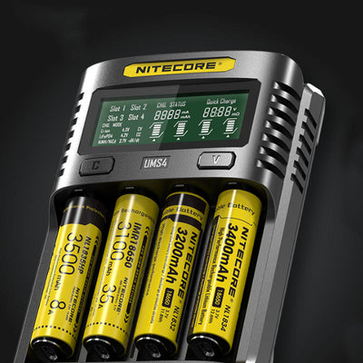NITECORE UMS4  LCD Screen 4 slots USB Battery Charger 18650/21700