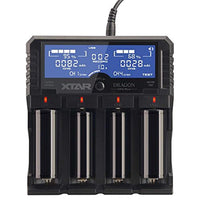 XTAR DRAGON VP4 PLUS Professional Battery Charger and Tester for 18650/14500/26650