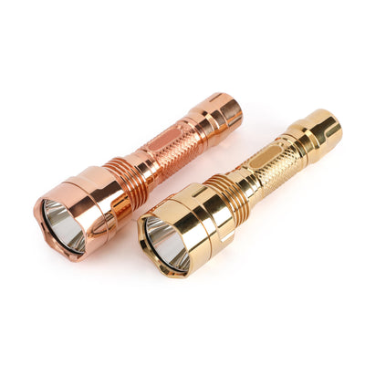 Brass/SS  Astrolux C8 SST40/XP-L HI 1300lm 7/4modes A6 Driver EDC Tactical Flashlight