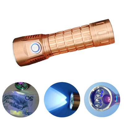 WAINLIGHT Copper Osram KW CSLNM1.1G/UV 365nm UV Rrechargeable Flashlight