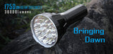 IMALENT R90TS 18XCREE XHP35 HI 36000 Lumens 1679 Meters Throw Rechargeable LED Light