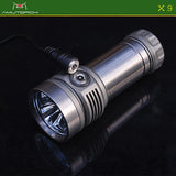 Amutorch X9 3*SST40 4500lm Titanium Magnetic Rechargeable LED Flashlight
