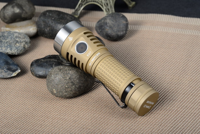 Fireflies E07 7x SST20/Nichia/XPL HI 6900LM 21700 Flashlight With Anduril UI