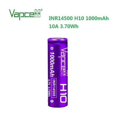 Vapcell H10 INR14500 1000mah 10A high drian 14500 Battery For FWAA