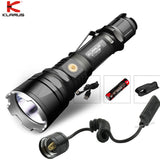 KLARUS XT12GT Magnetic Charging Flashlight CREE XHP35 HI D4 LED + 18650 3600mAh battery + KLARUS TRS1 Tactical Remote Swtich