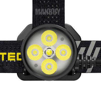 NITECORE HU60 4xCREE XP-G3 1600lm Thrower and Flood LED Headlamp