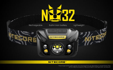 NITECORE NU32 550 Lumens USB Rechargeable Headlamp