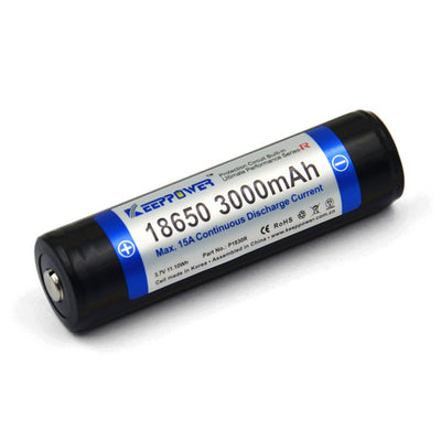 Original 1pcs KeepPower 3000mAh 18650 P1830R protected li-ion rechargeable battery Max 15A discharge