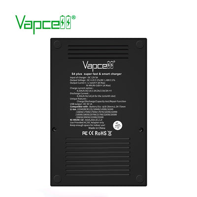 Vapcell S4 plus LCD Display 3A Intelligent Li-ion/IMR/Ni-MH Battery Charger 21700