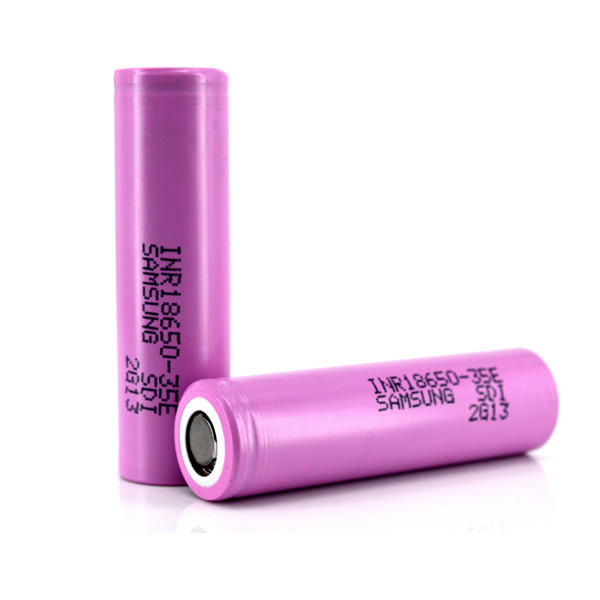 2pcs Samsung INR18650-35E 3500mah Flat Top Rechargeable 18650 Li-ion Power Battery