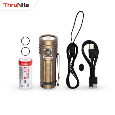 ThruNite T1 Desert Tan XHP50 1500 Lumen USB Rechargeable Magnetic Flashlight