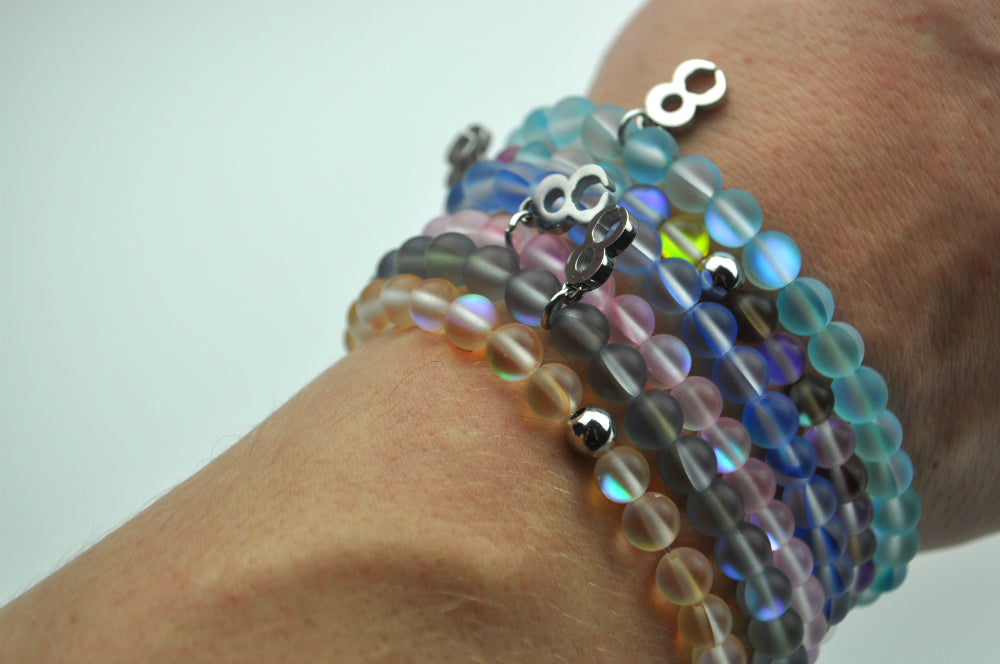 Recycled Rainbow Glass Bracelet (FREE Today When You Join to Become a Member)