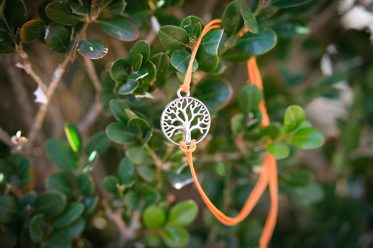 Recycled Tree Of Life Bracelet - Celebrate Orange Trees
