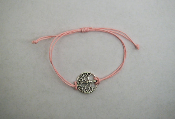 Recycled Tree Of Life Bracelet - Celebrate Pink Cherry Blossoms