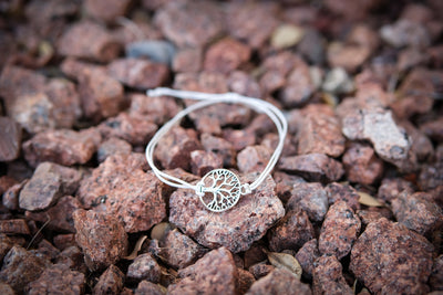 Recycled Tree Of Life Bracelet - Celebrate White Sycamore Trees