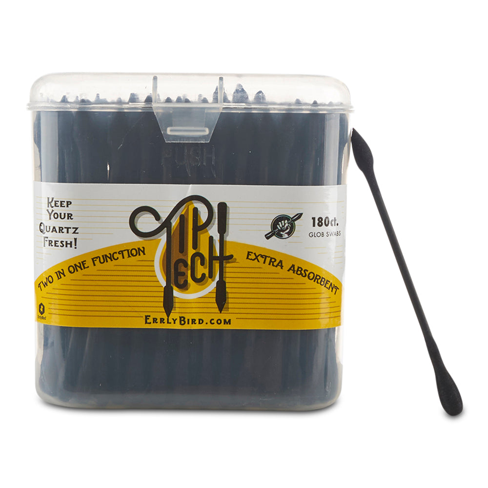 Tip Tech v2 Black Cotton Swabs - 3 Packs - Cloud9smokeco.com