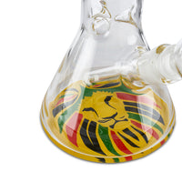 "Rasta Lion 12"" Beaker - Cloud9smokeco.com"