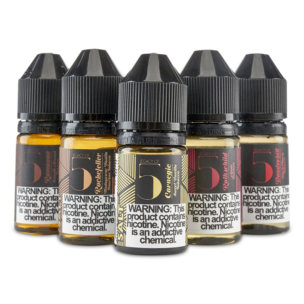 Legacy of 5 Salt Nic Vape Juice - Cloud9smokeco.com
