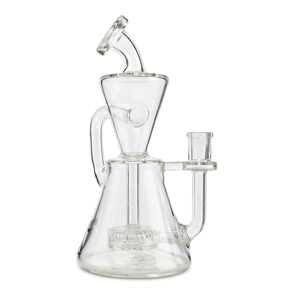 Mav Glass Alternate Hourglass Recycler (Clear) - Cloud9smokeco.com