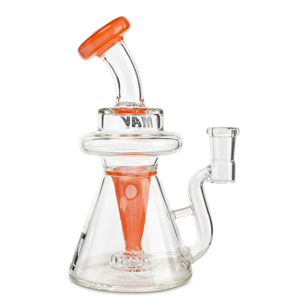 Mav Glass Internal Recycler Beaker Rig (Orange) - Cloud9smokeco.com
