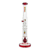 Medicali Pillar Straight(Pomegranate w/ Rasta decals) - Cloud9smokeco.com