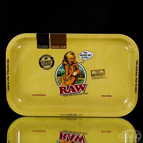 Raw Medium Lady Rolling Tray - Cloud9smokeco.com