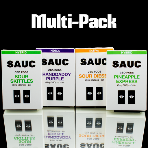SAUC CBD Pods - Multi Pack (8 Pods Total)