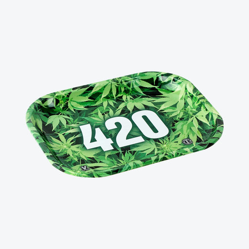 V Syndicate Rolling Tray - 420 Green - Cloud9smokeco.com