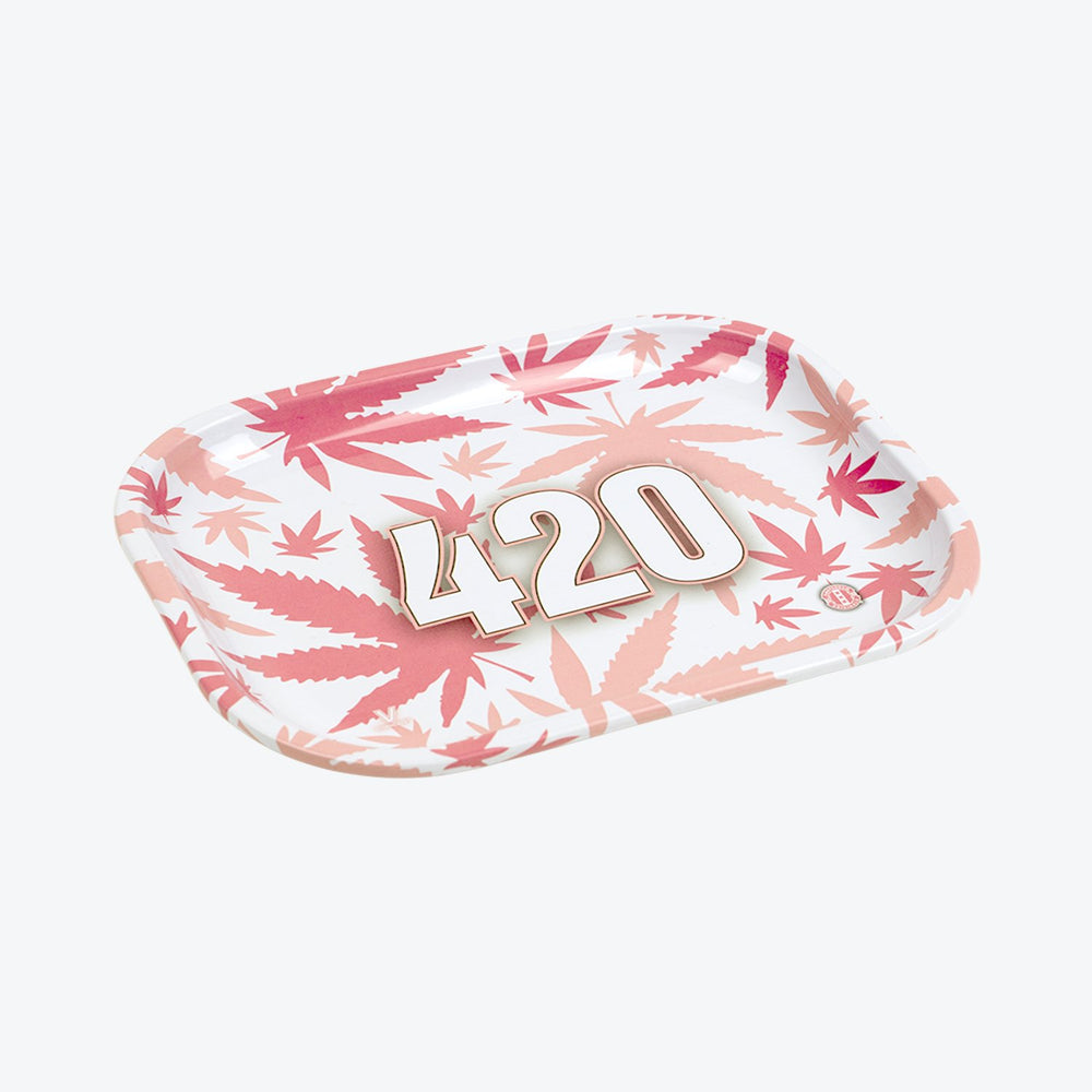 V Syndicate Rolling Tray - 420 Pink - Cloud9smokeco.com