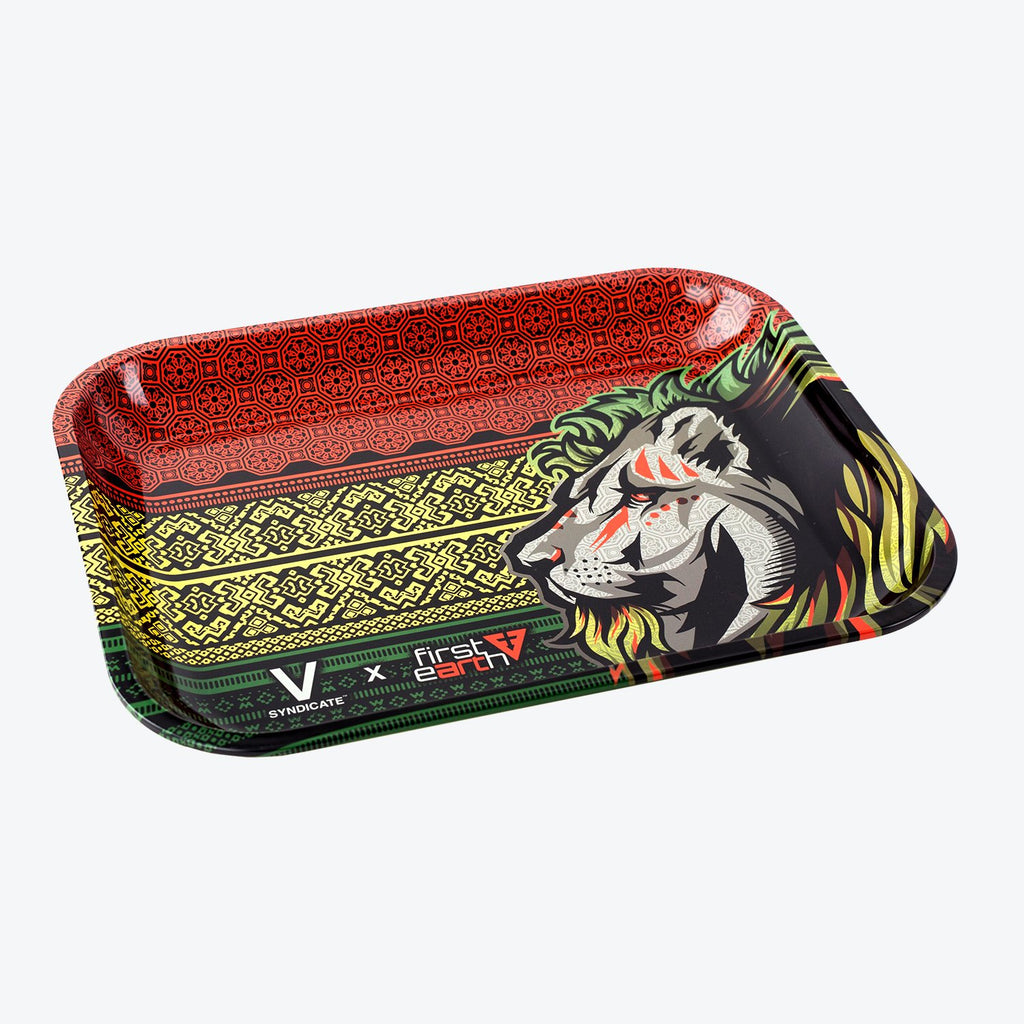 V Syndicate Rolling Tray - First Earth Lion - Cloud9smokeco.com