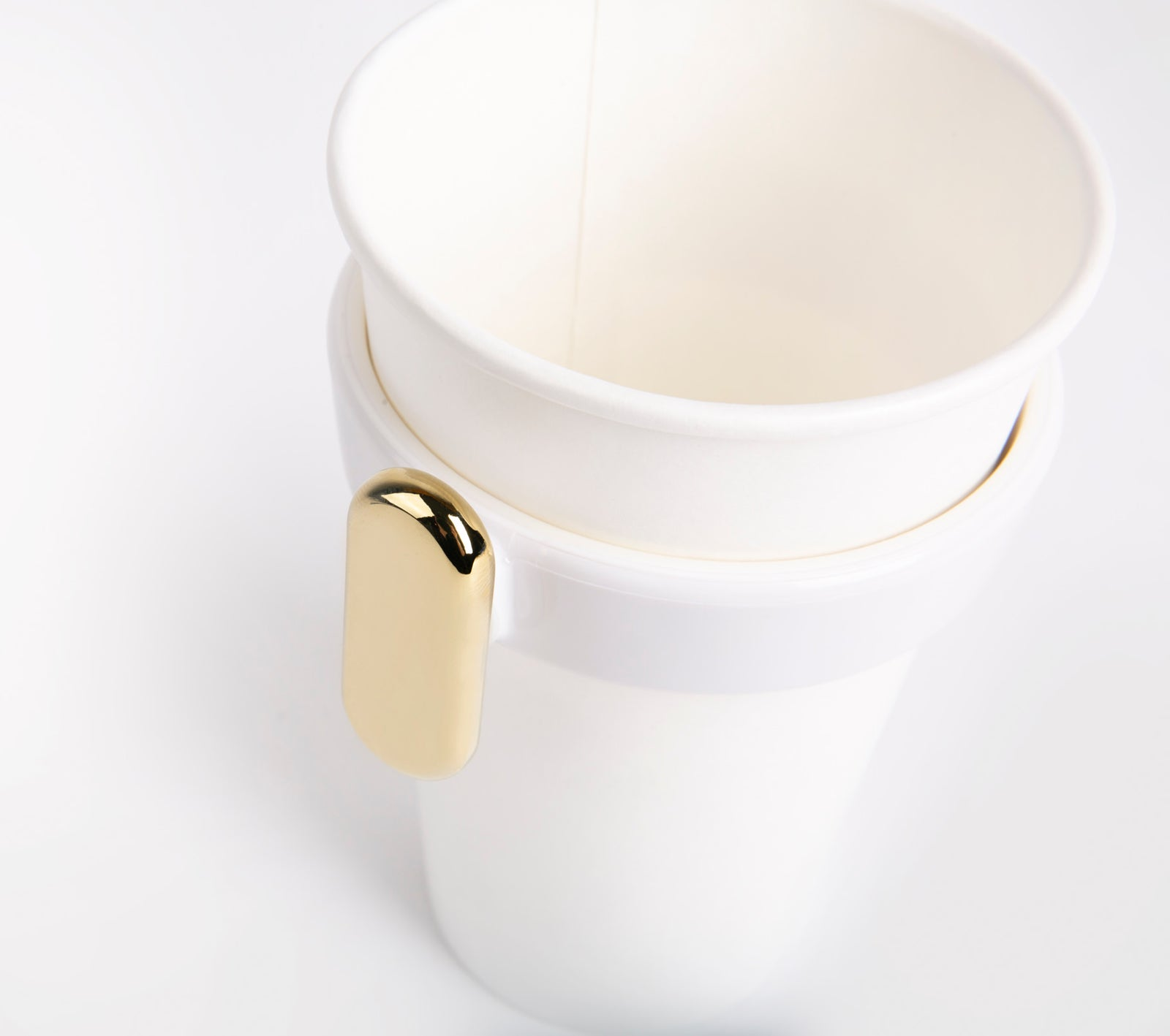 White Cupholder/Champagne