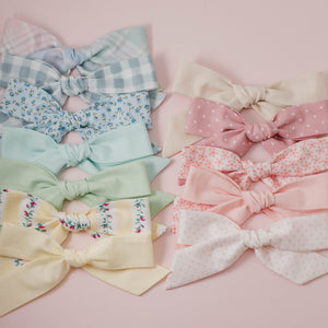 jumbo bow - pink floral