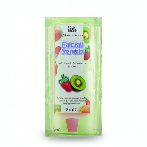Facial Scrub: Natural extracts of Peach, Strawberry and kiwi have been combined to Create a perfectly juicy, delicate moisturizing blend. This facial scrub clears away dull, dry skin cells with a unique fruity fresh moisturizing formula and helps in achieving a smooth fresh complexion.  Product Weight: 120ml.  Storage Instruction: Keep in Cool and Dry Place  Package: Soft Tube
