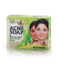 Load image into Gallery viewer, Acne Soap gets deep into pores where breakouts start and helps prevent future breakouts. This effective, yet gentle cream soap deep cleans without over irritating your skin. This acne soap, enriched with active tea tree oil, helps minimize the appearance of pores with refined skin tone and texture. Gentle Triclosan soothes and conditions skin to help prevent irritation. Skin is left clean, without any pore clogging residue.