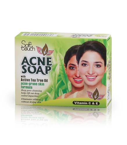 Acne Soap gets deep into pores where breakouts start and helps prevent future breakouts. This effective, yet gentle cream soap deep cleans without over irritating your skin. This acne soap, enriched with active tea tree oil, helps minimize the appearance of pores with refined skin tone and texture. Gentle Triclosan soothes and conditions skin to help prevent irritation. Skin is left clean, without any pore clogging residue.