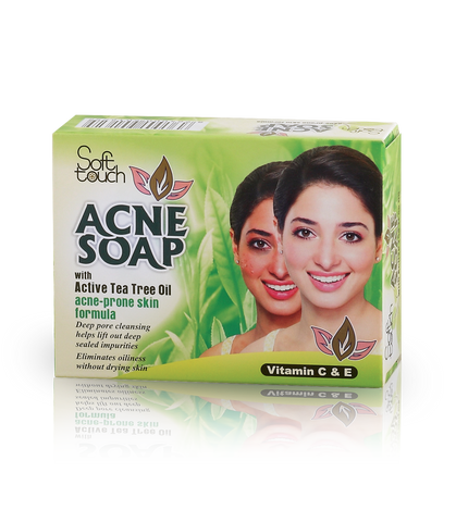 Acne Soap with active Tea Tree Oil 115gm - Golden Girl Cosmetics