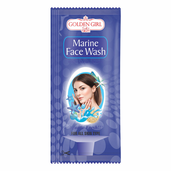 Face Wash Marine: Ordinary soap is not just enough. Marine beads clean and stimulate skin to remove tired surface cells. Cleanses deep into skin to remove oil, dirt and make-up impurities. Rinses clean, leaving no residue to irritate.