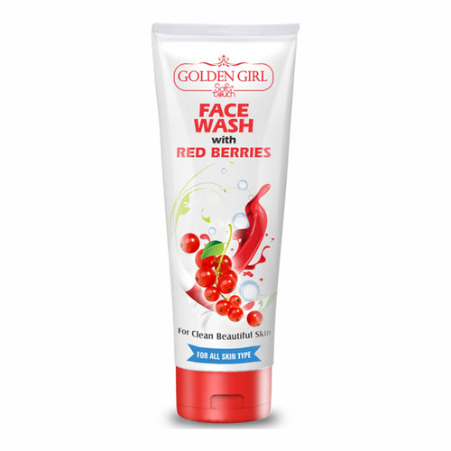 Face Wash with red berries is a refreshing daily cleanser that is formulated not to over dry or irritate sensitive skin. It gently cleans your skin by removing oil, dirt and make up-impurities that can cause break outs. This oil free red berries rich formula rinses clean leaving no residue that may irritate sensitive skin.