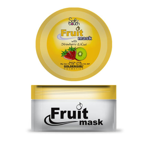 Fruit Mask - Strawberry & Kiwi - 75gm - Golden Girl Cosmetics