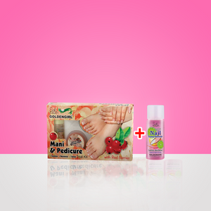 Mani & Padicure Trial Kit with Red Berries 5 items with free Nail Polish Remover