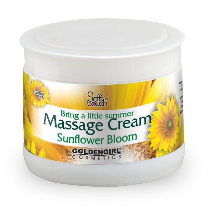 Massage Cream Sunflower uses vital fluids to build strength.